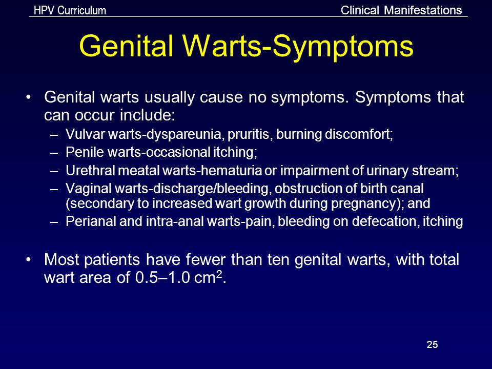 hpv high risk genital warts