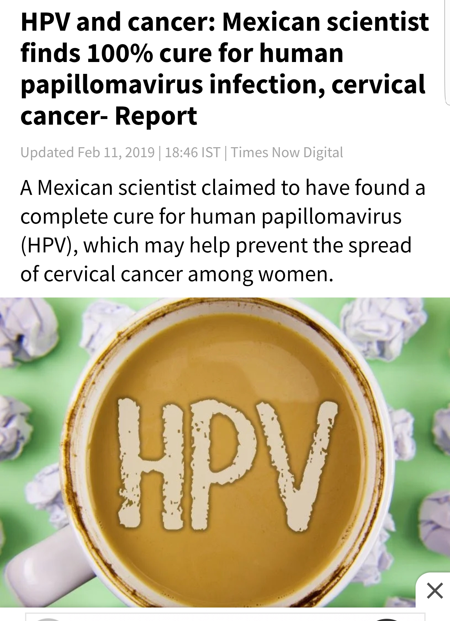 hpv cure hope)