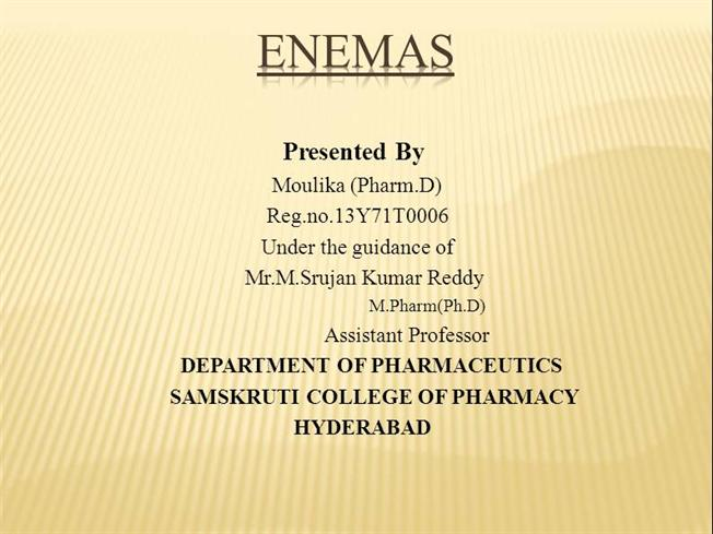 anthelmintic enema meaning)