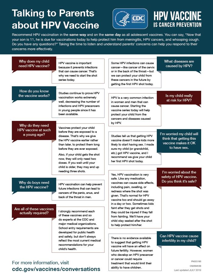 hpv vaccine recommendations)