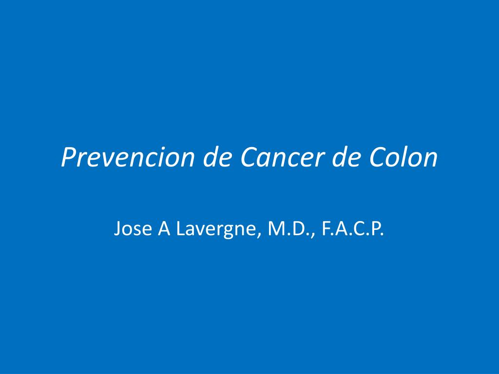 Cancer colon ppt. Curs 4 - Cancerul de Colon
