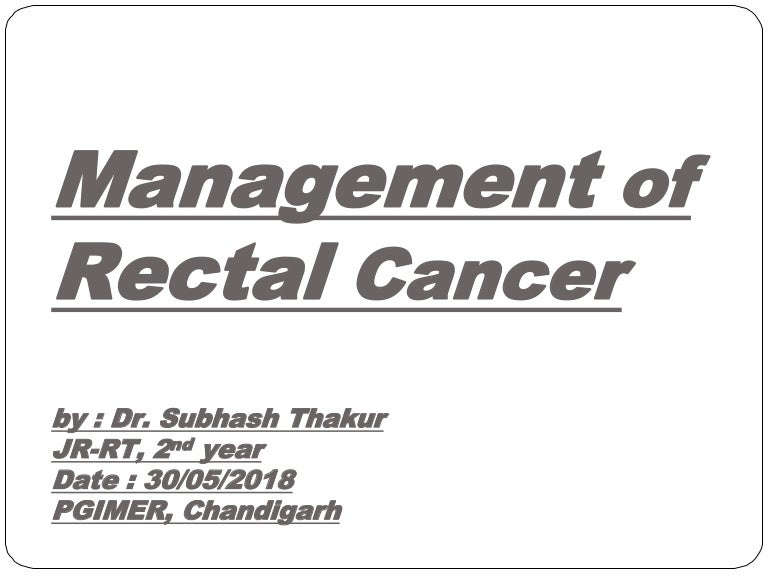 rectal cancer imrt