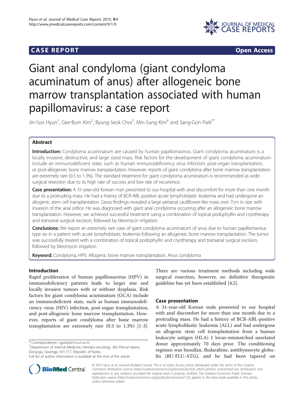 condyloma acuminata literature review)