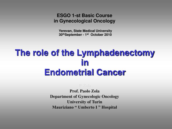 Endometrial cancer esgo guidelines Intraductal papilloma with atypia icd 10