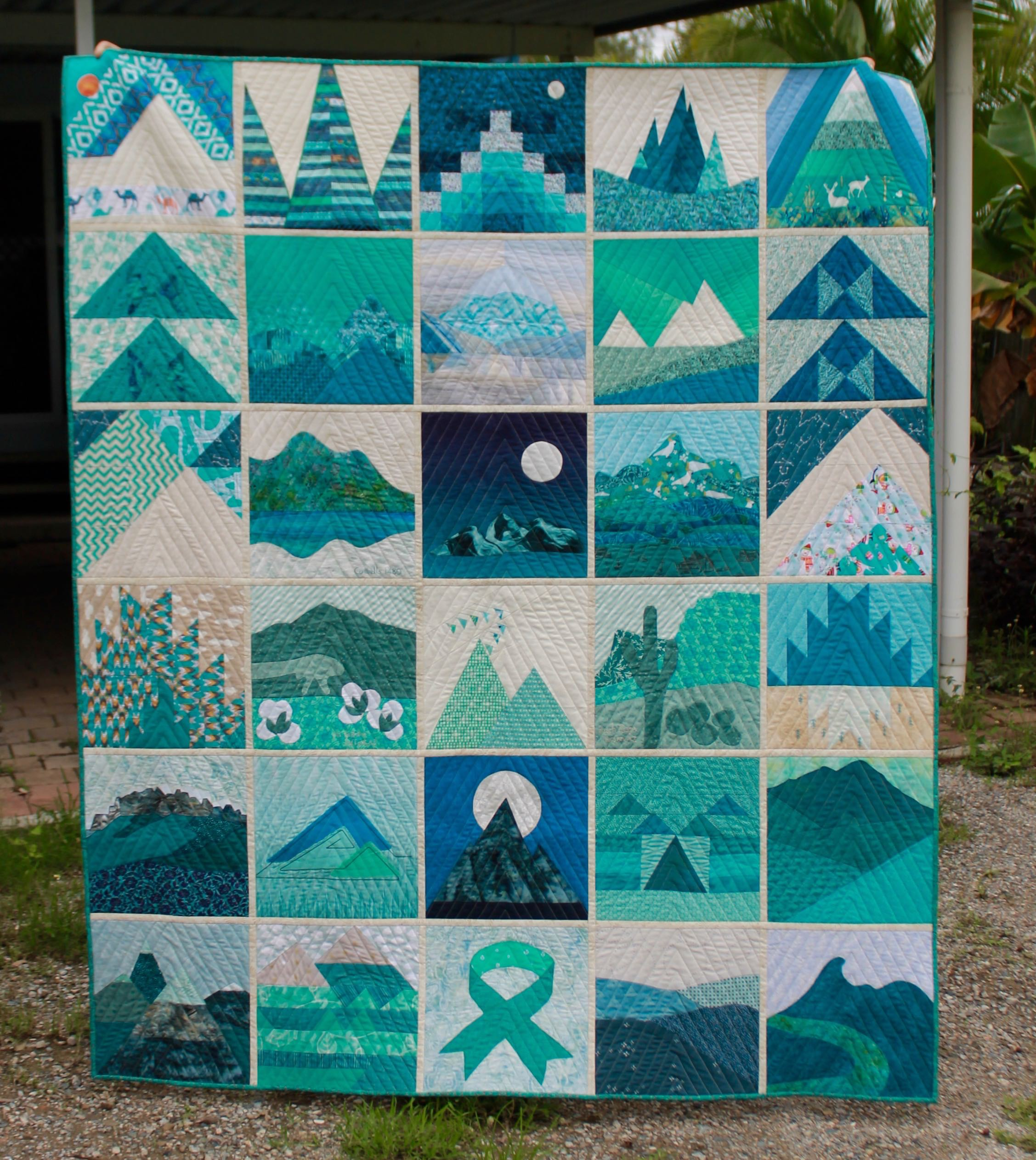 ovarian cancer quilt auction