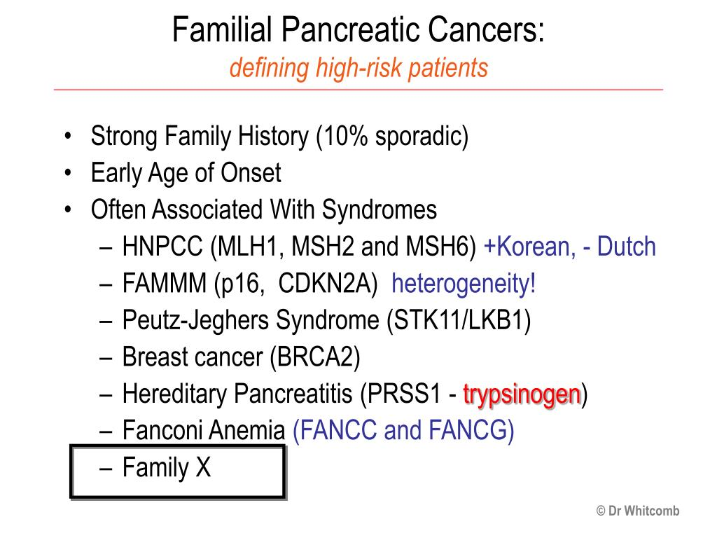 pancreatic cancer familial cancer genetic mutations in humans