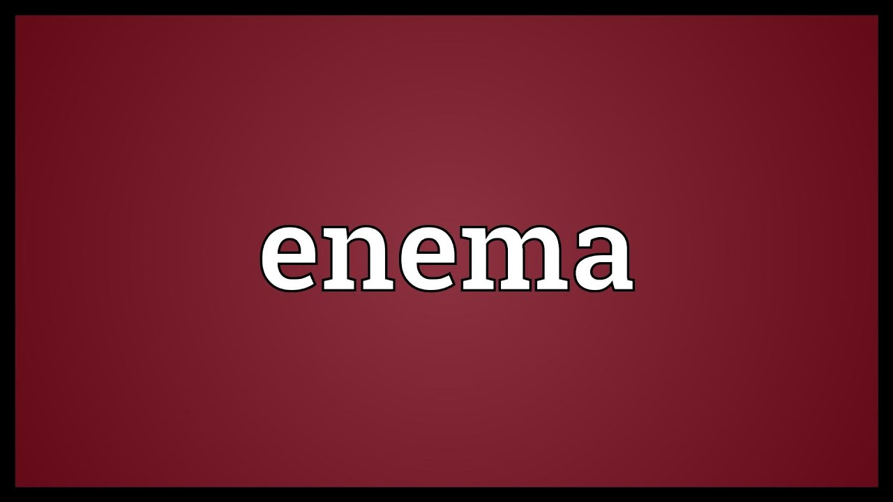 anthelmintic enema meaning
