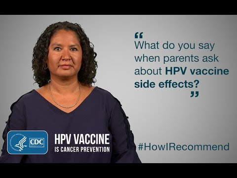 side effects from human papillomavirus vaccine)