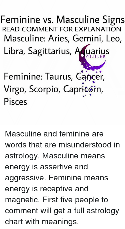 cancer sign feminine or masculine